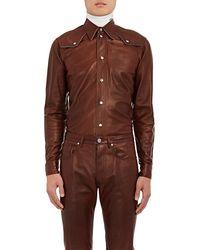 CALVIN KLEIN 205W39NYC - Leather Western Shirt - Lyst