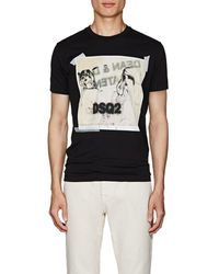 DSquared² - Graphic-print Cotton Jersey T-shirt - Lyst