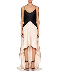 Narciso Rodriguez - Silk Satin & Georgette Gown - Lyst