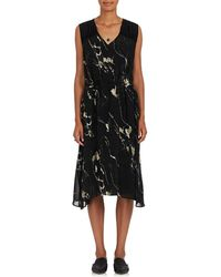 Pas De Calais - Embellished Abstract-print Chiffon Midi - Lyst