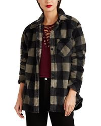 IRO - Minas Checked Fleece Shirt Size 38 - Lyst