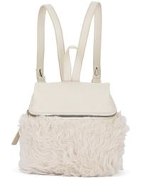 Kara Small Leather & Shearling Backpack