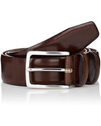 Barneys New York - Feather-edged Leather Belt - Lyst
