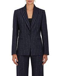 Pallas - Pinstriped Wool Single-button Jacket - Lyst