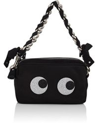 Anya Hindmarch - Chain Clutch Glitter Eyes In Satin - Lyst