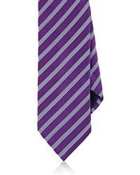 Barneys New York - Striped Silk-cotton Necktie - Lyst