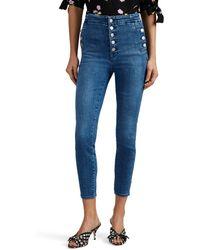 J Brand Natasha High-rise Skinny Crop Jeans
