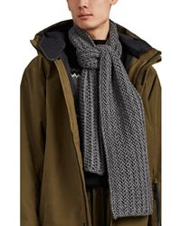 Barneys New York - Chunky Ribbed Cashmere Scarf - Lyst