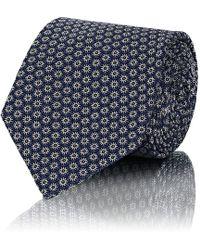 Boglioli - Floral-pattern Silk Necktie - Lyst