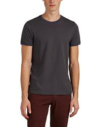 Barneys New York - Contrast-trimmed Cotton T-shirt - Lyst