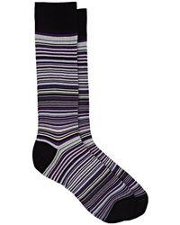 Barneys New York - Striped Cotton-blend Mid - Lyst
