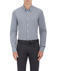 Brioni | Gingham Cotton Poplin Shirt | Lyst