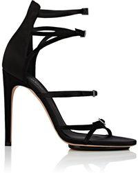 Calvin Klein - Vinna Satin & Suede Sandals - Lyst