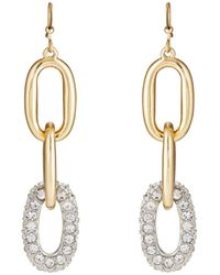 Kenneth Jay Lane - Yellow - Gold-plated Triple-drop Earrings - Lyst