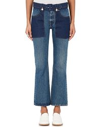 MM6 by Maison Martin Margiela - Belted Flared Jeans - Lyst