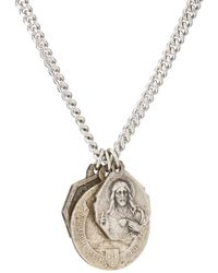 MI by Miracle Icons - Vintage Charms On Chain Necklace - Lyst