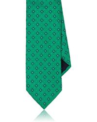 Barneys New York - Diamond-dot Silk Twill Necktie - Lyst