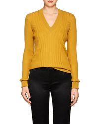 Maison Margiela - Wool V-neck Sweater - Lyst