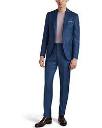 Piattelli Esprit Wool Two-button Suit - Blue