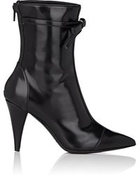 Philosophy Di Lorenzo Serafini - Bow-embellished Spazzolato Leather Ankle Boots - Lyst