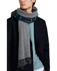 Drake's - Double-faced Wool-cashmere Scarf - Lyst