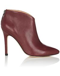 Halston - Karen Leather Ankle Booties - Lyst
