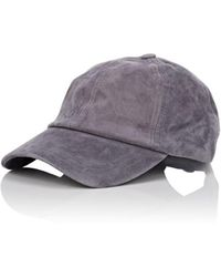 Barneys New York - Suede Baseball Cap - Lyst