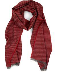 Barneys New York - Thin-striped Wool Scarf - Lyst