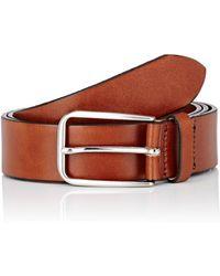Barneys New York - Burnished Leather Belt - Lyst