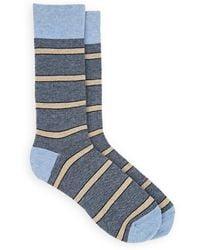 Barneys New York - Striped Cotton-blend Mid-calf Socks - Lyst