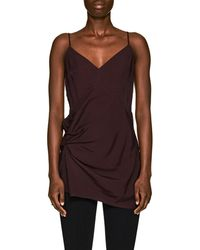 Helmut Lang - Gathered Polished Twill Cami - Lyst