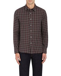 Barneys New York - Plaid Woven Cotton Shirt - Lyst