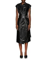 Proenza Schouler - Leather Belted Wrap Dress - Lyst