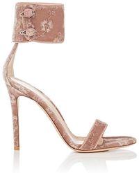 Gianvito Rossi - Empress Embroidered Velvet Sandals - Lyst