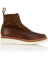 Grenson - Spike Leather & Suede Lace - Lyst
