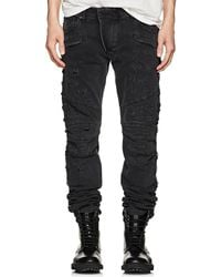 Balmain Distressed Slim Biker Jeans