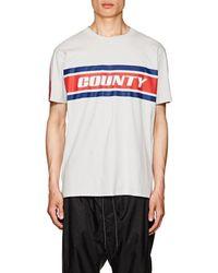 Marcelo Burlon - County Stripes Print T-shirt - Lyst
