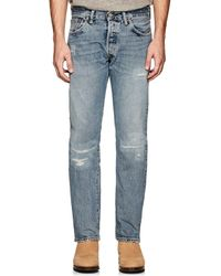 RRL - Distressed Straight Jeans - Lyst