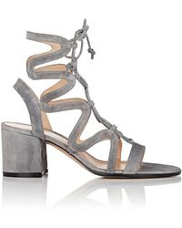 Gianvito Rossi | Artemis Suede Gladiator Sandals | Lyst