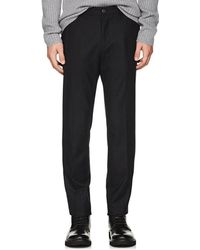 Theory - Evan Wool-blend Flannel Trousers - Lyst