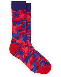 Barneys New York - Camouflage Cotton-blend Mid-calf Socks - Lyst