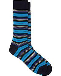 Barneys New York - Mixed-striped Cotton-blend Mid-calf Socks - Lyst