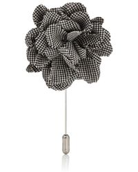Lanvin Rose Tiepin - Black