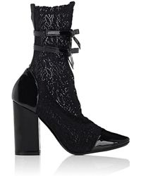 Philosophy Di Lorenzo Serafini - Patent Leather & Lace Ankle Boots - Lyst