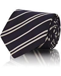 Barneys New York - Double - Striped Silk-blend Faille Necktie - Lyst
