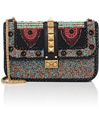 Valentino - Medium Beaded Leather Shoulder Bag - Lyst