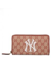 21f88985b436 Gucci - Original Gg Zip Around Wallet With New York Yankees Patch - Lyst