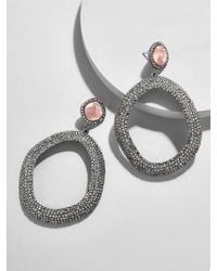 BaubleBar - Evamarie Resin Hoop Earrings - Lyst