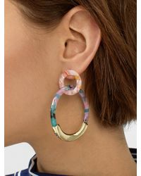 BaubleBar - Daniya Resin Hoop Earrings - Lyst