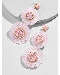 BaubleBar - Mariette Fringe Drop Earrings-blush - Lyst